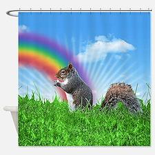 Funny Rainbow Shower Curtain