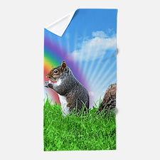 Funny Squirrel Beach Towel