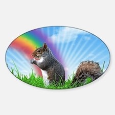 Funny Surreal Sticker (Oval)
