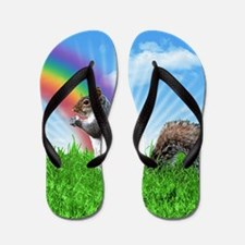 Cute Squirrel Flip Flops
