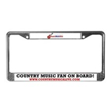Cute Country music License Plate Frame