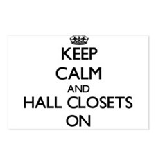Keep Calm and Hall Closet Postcards (Package of 8)