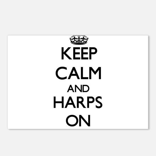 Keep Calm and Harps ON Postcards (Package of 8)