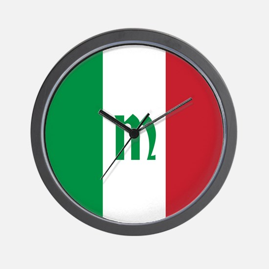 Team Italy Monogram Wall Clock