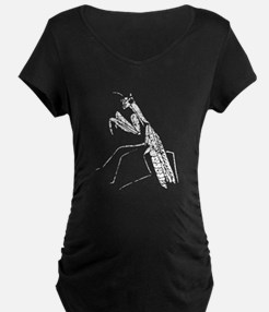 Distressed Preying Mantis Silhouette Maternity T-S