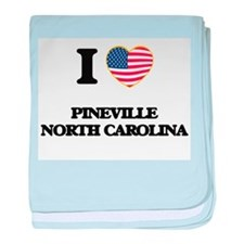 I love Pineville North Carolina baby blanket