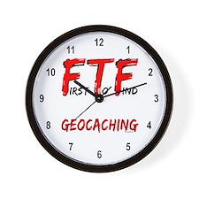 FTF Geocaching Wall Clock