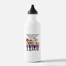 Stick Figure Nurse Wee Water Bottle