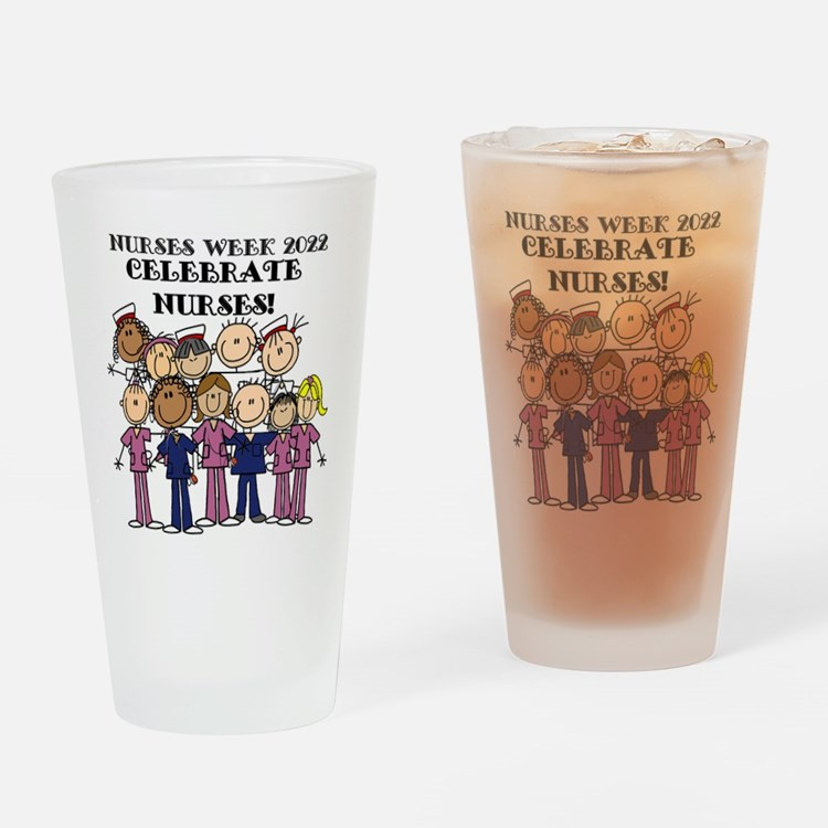 Stick Figure Nurse Week 2016 Drinking Glass