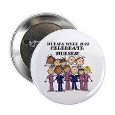 "Stick Figure Nurses Week 2015 2.25"" Button"