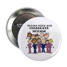 "Stick Figure Nurses Week 2 2.25"" Button (100 pack)"