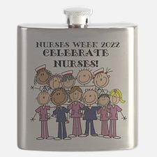Stick Figure Nurse Week 2016 Flask