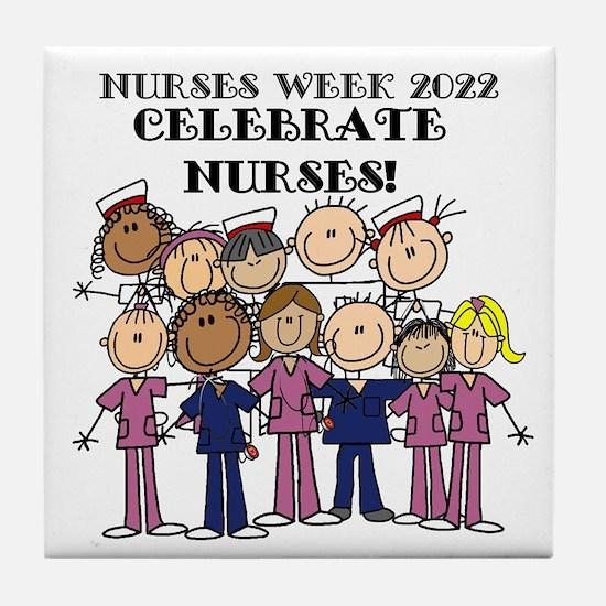 Stick Figure Nurse Week 2016 Tile Coaster