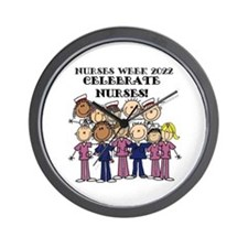 Stick Figure Nurses Week 2015 Wall Clock