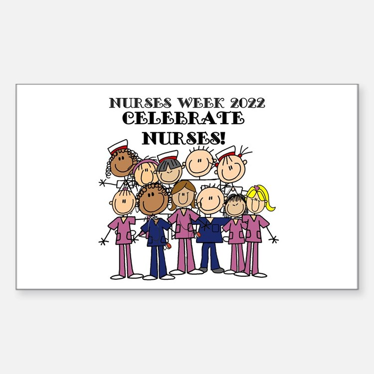 Stick Figure Nurse Week 2016 Decal