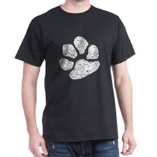 Distressed Pawprint Silhouette T-Shirt