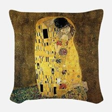The Kiss Woven Throw Pillow