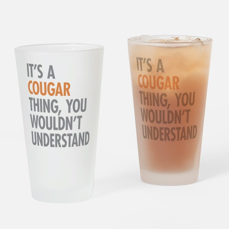 Cougar Thing Drinking Glass