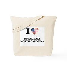 I love Rural Hall North Carolina Tote Bag
