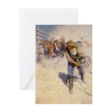 Unique Wild west Greeting Card