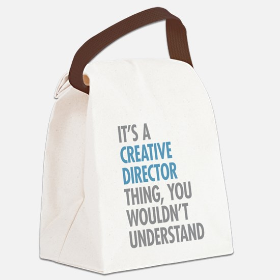 Creative Director Thing Canvas Lunch Bag