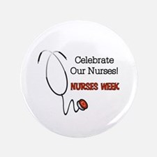 Stethoscope Nurses Week Button