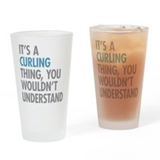 Curling Thing Drinking Glass