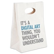 Digital Art Thing Canvas Lunch Tote