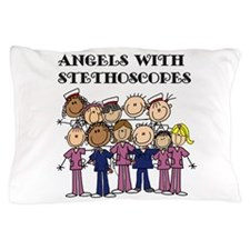 Angels With Stethoscopes Pillow Case