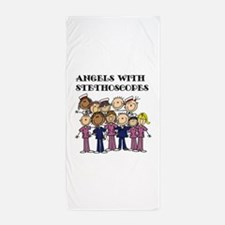 Angels With Stethoscopes Beach Towel