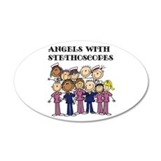 Angels With Stethoscopes Wall Decal