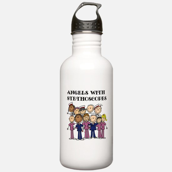 Angels With Stethoscop Water Bottle