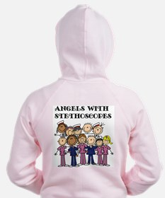Angels With Stethoscopes Zip Hoodie
