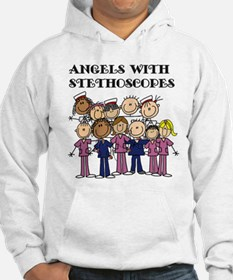 Angels With Stethoscopes Hoodie