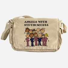 Angels With Stethoscopes Messenger Bag