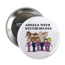 """Angels With Stethoscopes 2.25"""" Button (10 pack)"""