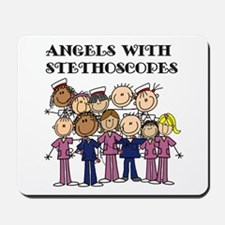 Angels With Stethoscopes Mousepad