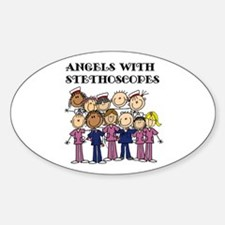 Angels With Stethoscopes Decal
