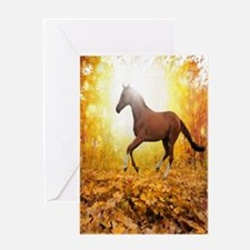 Horse Autumn Greeting Cards