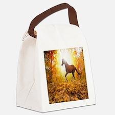 Horse Autumn Canvas Lunch Bag