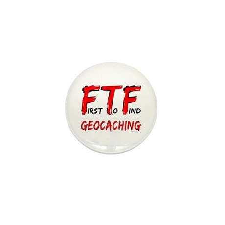 FTF Geocaching Mini Button (10 pack)