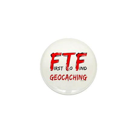 FTF Geocaching Mini Button (100 pack)
