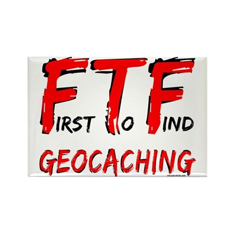 FTF Geocaching Rectangle Magnet
