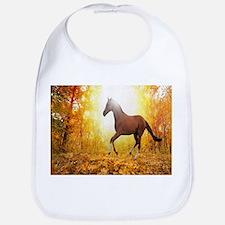 Horse Autumn Bib