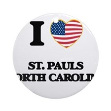 I love St. Pauls North Carolina Ornament (Round)