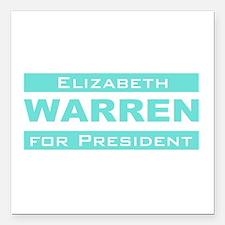 Elizabeth Warren for President Square Car Magnet 3