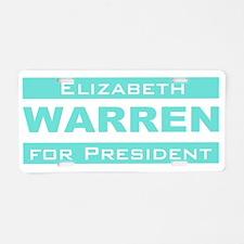Elizabeth Warren for President Aluminum License Pl