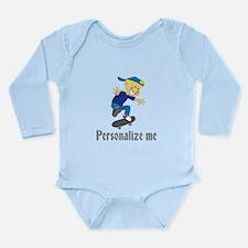 Personalize Boy On A S Long Sleeve Infant Bodysuit