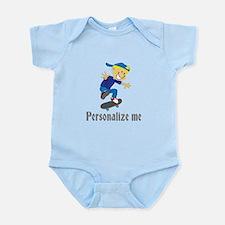 Personalize Boy On A Skateboard Infant Bodysuit