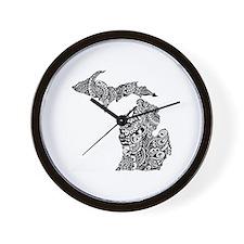 Cute Upper peninsula Wall Clock